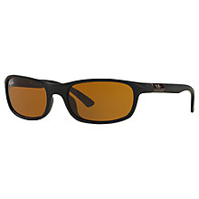 Buy Ray-Ban Junior RJ9056S Rectangular Sunglasses, Black/Brown Online at johnlewis.com