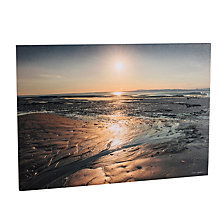 Buy Mike Shepherd - Sunset Over the Sands Embellished Canvas, 100 x 70cm Online at johnlewis.com