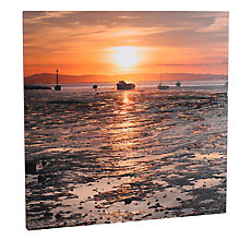 Buy Mike Shepherd - Harbour At Morecombe Canvas Print, 80 x 80cm Online at johnlewis.com