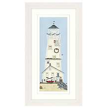 Buy Sally Swannell - Light House II Framed Print, Cream, 68 x 38cm Online at johnlewis.com