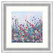 Buy Jane Morgan - Wild Flower Sparkle 2 Embellished Framed Print, 71 x 71cm Online at johnlewis.com