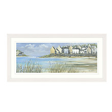 Buy Debbie Neill - Coastal Town Panel Framed Print, 107 x 52cm Online at johnlewis.com