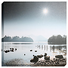 Buy Mike Shepherd - Derwent Sunburst Embellished Canvas Print, 80 x 80cm Online at johnlewis.com