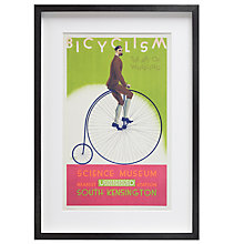 Buy London Transport Museum - Bicyclism Framed Print, 35 x 50cm Online at johnlewis.com