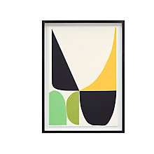 Buy Inaluxe - Green And Yellow Framed Print, 68 x 50cm Online at johnlewis.com