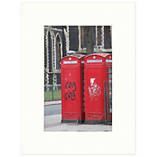 Buy Barbara Chandler - Red Phone Box And Graffiti Unframed Print, 30 x 40cm Online at johnlewis.com