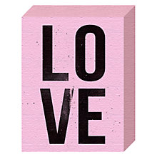 Buy Nick Cranston - Love Canvas Print, 20 x 15cm Online at johnlewis.com