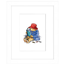 Buy Peggy Fortnum - Paddington Reading Framed Print, 27 x 33cm Online at johnlewis.com