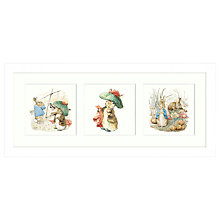 Buy Beatrix Potter - Peter Rabbit & Benjamin Bunny Framed Print, 53 x 23cm Online at johnlewis.com