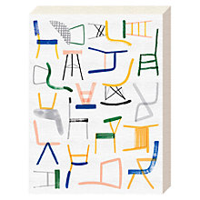 Buy Charlotte Trounce - Chairs Canvas Print, 40 x 30cm Online at johnlewis.com