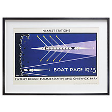 Buy London Transport Museum - Boat Race 1923 Framed Print, 53 x 73cm Online at johnlewis.com