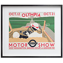 Buy London Transport Museum - Motor Show Olympia Framed Print, 50 x 58cm Online at johnlewis.com