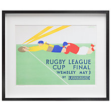 Buy London Transport Museum - Rugby League Cup Final Framed Print, 42 x 50cm Online at johnlewis.com
