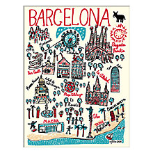 Buy Julia Gash - Barcelona Unframed Print with Mount, 30 x 40cm Online at johnlewis.com