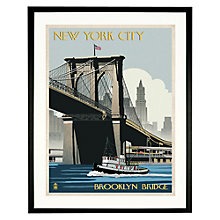 Buy The Lantern Press - Brooklyn Bridge Framed Print, 52 x 65cm Online at johnlewis.com