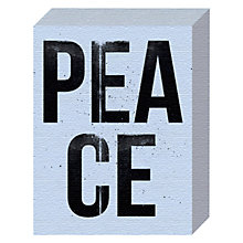 Buy Nick Cranston - Peace Canvas Print, 20 x 15cm Online at johnlewis.com