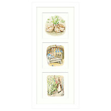 Buy Beatrix Potter - Peter Rabbit And Family Framed Print, 53 x 23cm Online at johnlewis.com