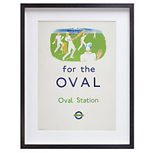 Buy London Transport Museum - Cricket For The Oval Framed Print, 39 x 50cm Online at johnlewis.com