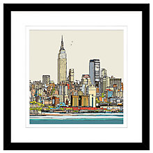 Buy Jamie B. Edwards - New York Framed Print, 54 x 54cm Online at johnlewis.com