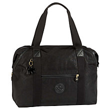 Buy Kipling Art Medium Travel Tote Bag, Black Leaf Online at johnlewis.com