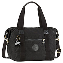 Buy Kipling Small Art Handbag, Black Leaf Online at johnlewis.com