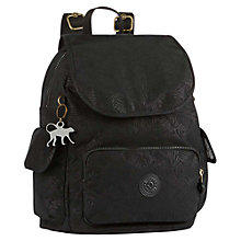 Buy Kipling Small City Pack Backpack, Black Leaf Online at johnlewis.com