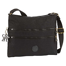 Buy Kipling Alvar Shoulder Bag, Black Leaf Online at johnlewis.com