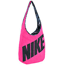 Buy Nike Graphic Reversible Tote Bag, Pink/Black Online at johnlewis.com