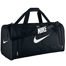 Buy Nike Brasilia 6 Large Duffle Bag, Black/White Online at johnlewis.com