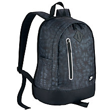 Buy Nike Cheyenne Print Children's Backpack, Black/Matte Silver Online at johnlewis.com