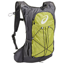 Buy Asics Lite Running Backpack, Green/Grey Online at johnlewis.com