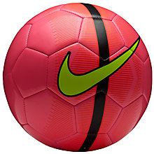 Buy Nike Mercurial Fade Football, Size 5, Pink/Green Online at johnlewis.com