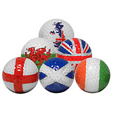 Buy Longridge Flag Golf Balls Set, Pack of 6 Online at johnlewis.com