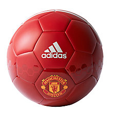Buy Adidas Manchester United F.C. Football, Size 5, Red Online at johnlewis.com