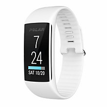 Buy Polar A360 Fitness Tracker Sports Watch, Small, White Online at johnlewis.com
