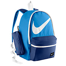Buy Nike Halfday Backpack, Blue/White Online at johnlewis.com
