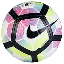 Buy Nike Premier League Strike Football, Size 5, Blue/White Online at johnlewis.com