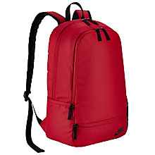 Buy Nike Classic North Solid Backpack, Red/Black Online at johnlewis.com