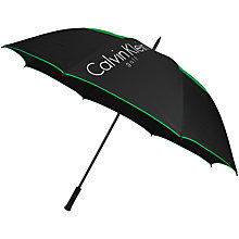 Buy Calvin Klein Golf Stormproof Umbrella, Black/Grey Online at johnlewis.com