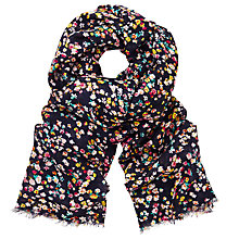 Buy John Lewis Ditsy Floral Scarf, Navy/Multi Online at johnlewis.com