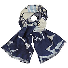 Buy John Lewis Heraldic Floral Scarf, Black/Multi Online at johnlewis.com