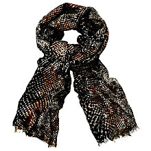 Buy John Lewis Reptile Spot Scarf, Black/Multi Online at johnlewis.com