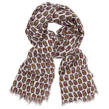 Buy John Lewis Frank The Owl Scarf, Cream/Multi Online at johnlewis.com