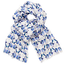 Buy John Lewis Abstract Bird Scarf, Blue/Multi Online at johnlewis.com
