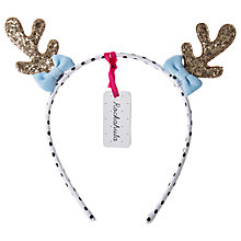 Buy Rockahula Glitter Reindeer Antlers Alice Band, Multi Online at johnlewis.com