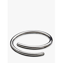 Buy Andea Sterling Silver Overlap Bangle, Silver Online at johnlewis.com