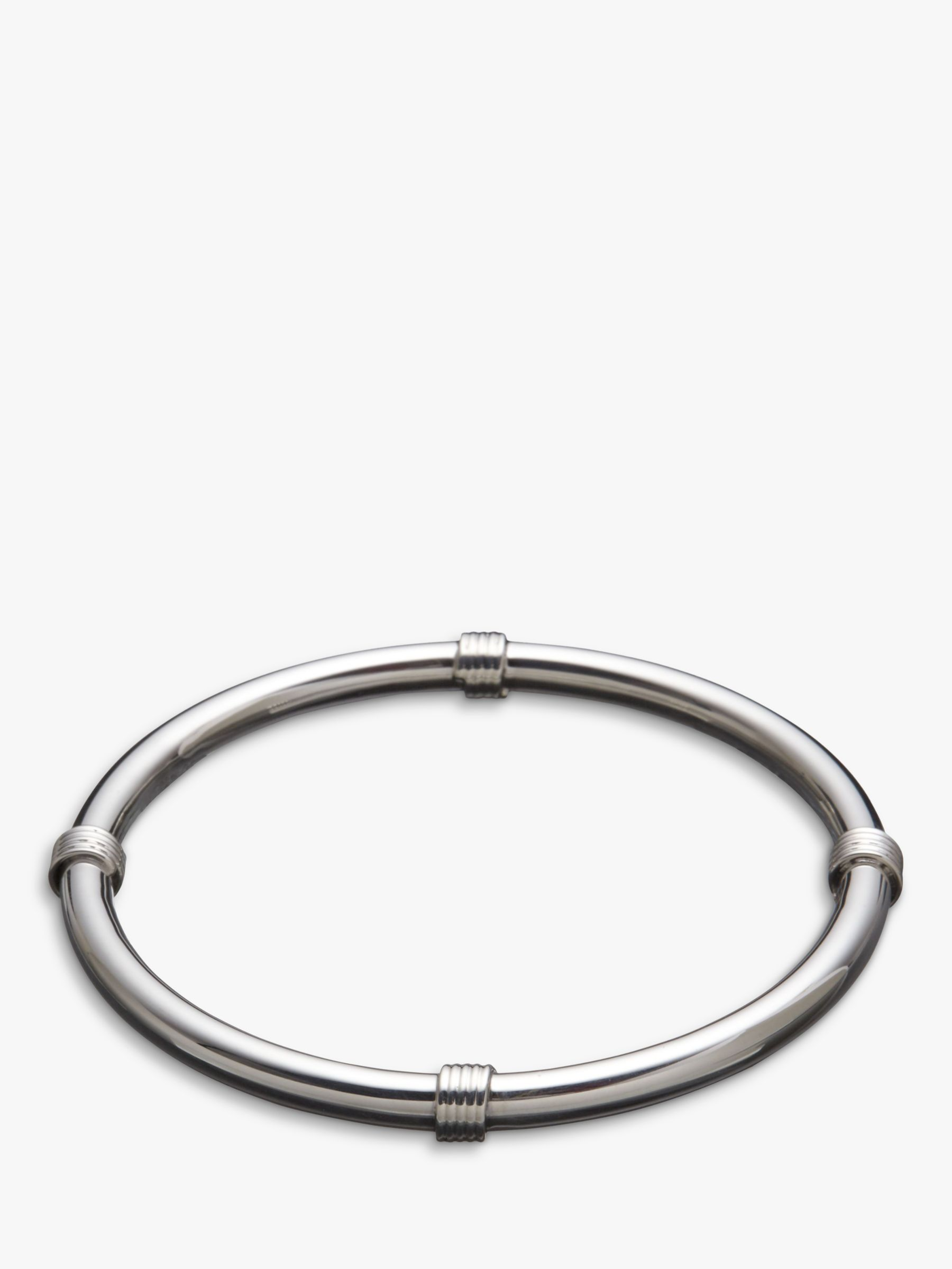 Andea Andea Sterling Silver Coil Twist Polished Bangle, Silver