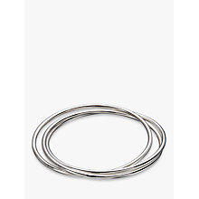 Buy Andea Sterling Silver Triple Slim Bangle, Silver Online at johnlewis.com