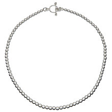 Buy Andea Ball Bead Necklace, Silver Online at johnlewis.com