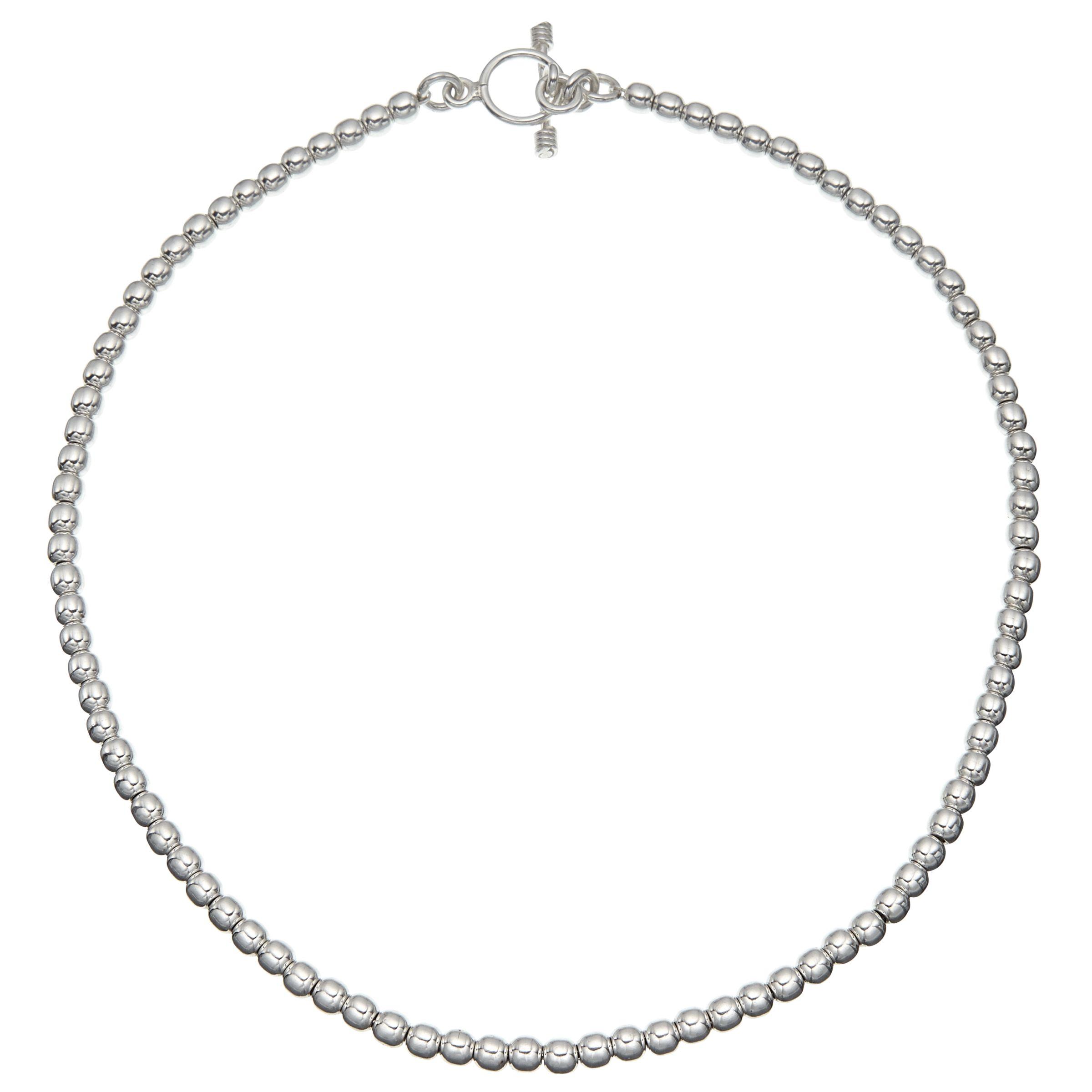Andea Andea Ball Bead Necklace, Silver